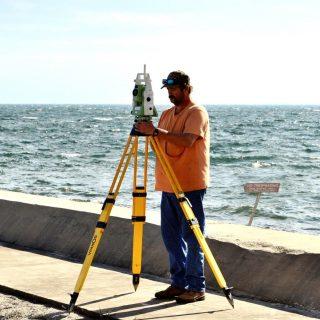 Surveyor with modern survey equipment